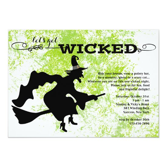 Wicked Witch Halloween Invitation