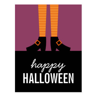 Wicked Witch Halloween Postcard