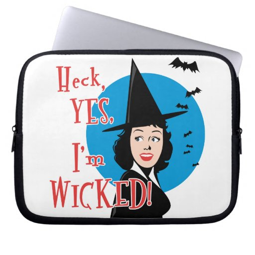 Wicked Witch Laptop Computer Sleeves