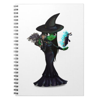 Wicked Witch Spiral Note Books