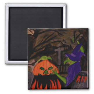Wicked Witch of Halloween Magnet