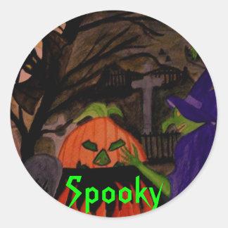 Wicked Witch of Halloween Round Sticker