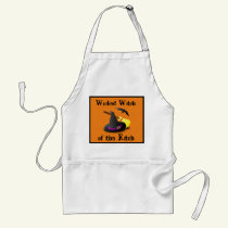 Wicked Witch of the Kitch Halloween Apron