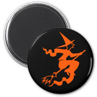 Wicked Witch on a Broom Fun Halloween Party Favor Fridge Magnet