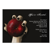 Wicked Witch Red Apple Halloween Party Invitation