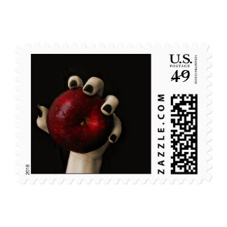 Wicked Witch Red Apple Halloween Postage