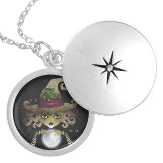 Wicked Witch Round Locket Necklace