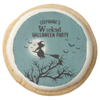 Wicked Witch Round Shortbread Cookie