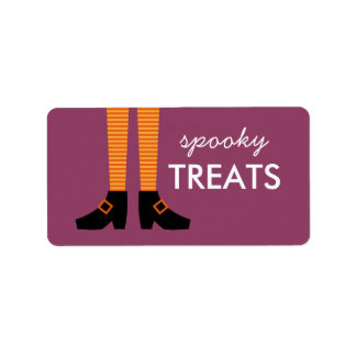 Wicked Witch Spooky Treats Label