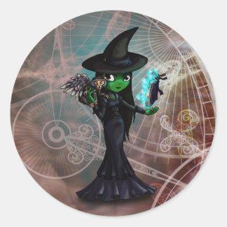 Wicked Witch Round Stickers