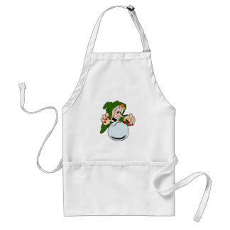 Wicked witch with crystal ball aprons