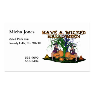 Wicked Witches Halloween Business Card