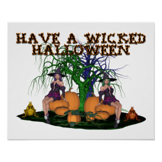 Wicked Witches Halloween Posters