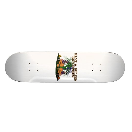 Wicked Witches Halloween Skateboard Deck