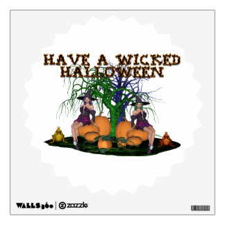 Wicked Witches Halloween Wall Stickers