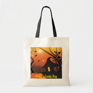 Wicked Witches Hut Halloween Trick Or Treat Tote Bag