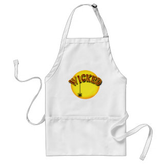 Wicked with Full Moon and Spider for Halloween Adult Apron