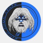Wicked Yeti Classic Round Sticker