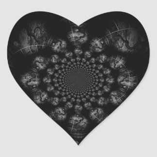 Wickedly Twisted Manipulated Heart Sticker