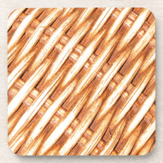 Wicker background drink coaster