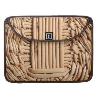 Wicker basket closeup sleeve for MacBook pro