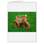 Wicker Basket Furniture In A Bike Shape On The Gra Greeting Cards