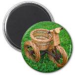 Wicker Basket Furniture In A Bike Shape On The Gra Fridge Magnets