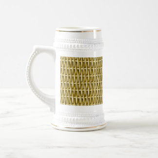 Wicker Basket Textured Beer Stein