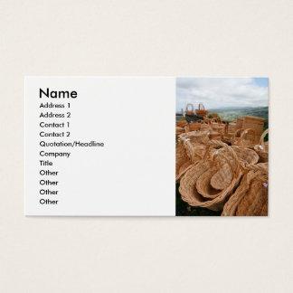 Wicker baskets business card