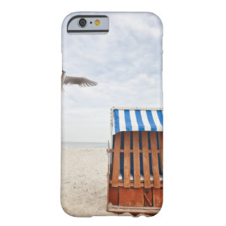 Wicker beach chair on beach barely there iPhone 6 case