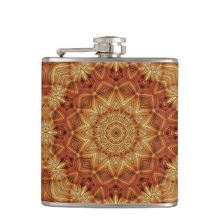 Wicker Mandala Pattern Flask