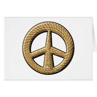 Wicker Peace Sign Card