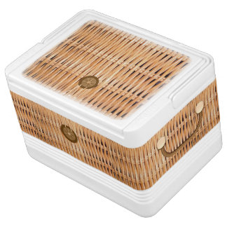 Wicker Picnic Basket Look Igloo Can Cooler