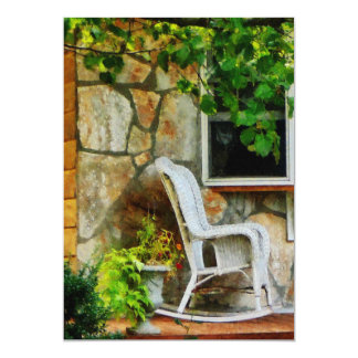 Wicker Rocking Chair on Porch Card