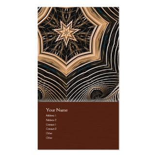 Wicker Star Mandala Business Card