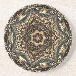 Wicker Star Mandala Coaster