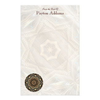 Wicker Star Mandala • Message Stationery