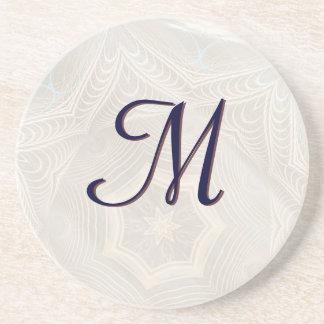 Wicker Star Mandala Monogram Coaster