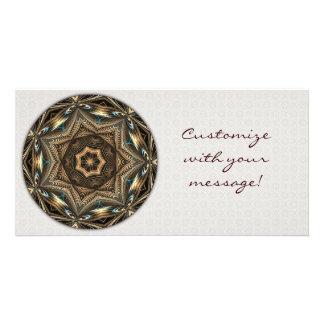 Wicker Star Mandala Photo Card