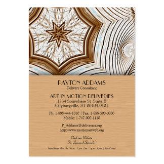 Wicker Star Mandala Vertical Business Card