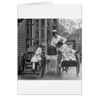 Wicker Wheelchairs, 1920s Greeting Card
