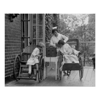 Wicker Wheelchairs, 1920s Poster