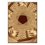 wicker woven pentacle cards