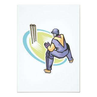 Wicket Keeper 5x7 Paper Invitation Card