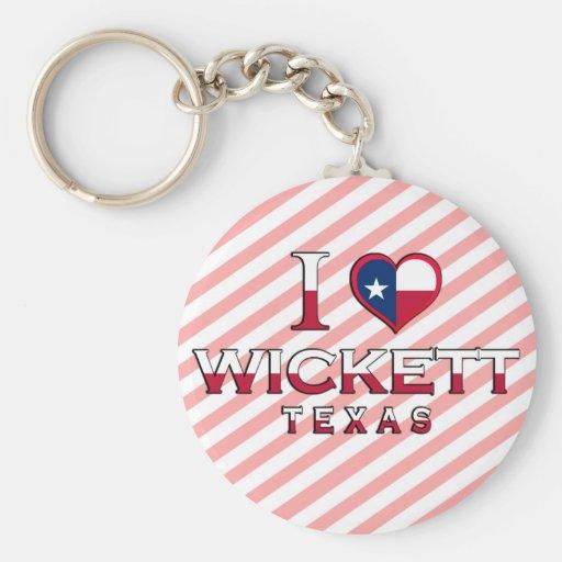 Wickett, Texas Basic Round Button Keychain