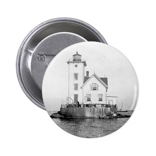 Wickford Harbor Lighthouse 2 Inch Round Button