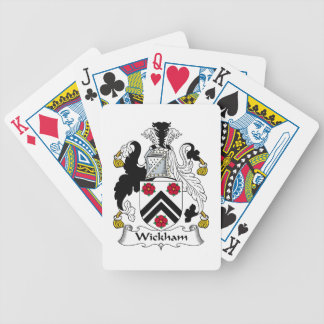 Wickham Family Crest Bicycle Poker Deck