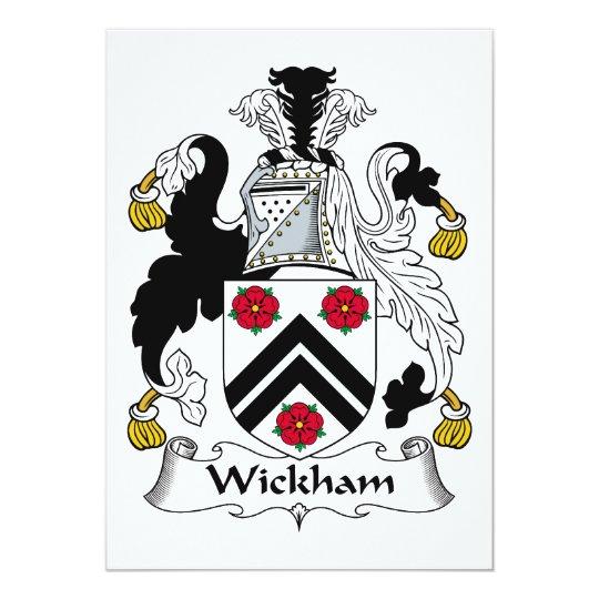 Wickham Family Crest Card