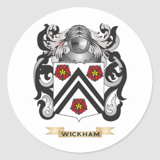 Wickham Family Crest (Coat of Arms) Stickers