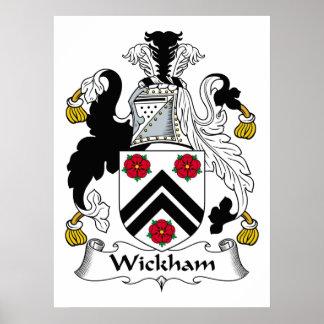 Wickham Family Crest Poster
